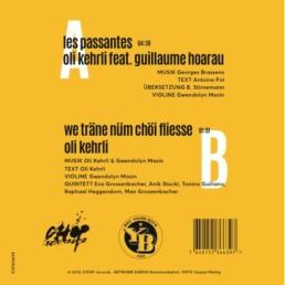 Oli Kehrli Tonträger Vinyl Les passantes feat. Guillaume Hoarau Rückseite